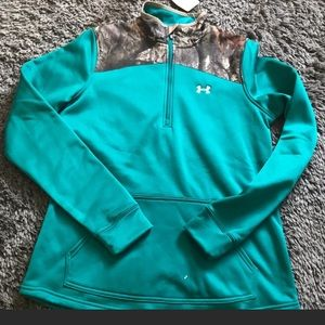 NWT pullover under armor teal medium